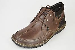 Ботинки зимние NiK 02-0191 коричневые кожа 40,45 размеры