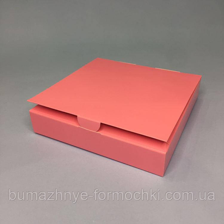 Коробка для конфет, 9 шт,  розовая, 153*153*30