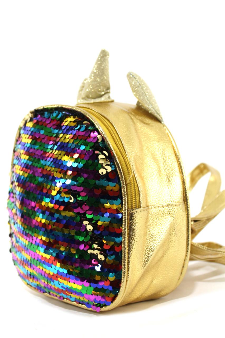 Детский рюкзак для девочек с пайетками YR 2044
