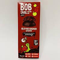 Натуральные конфеты Bob Snail Яблоко-Вишня в бельгийском черном шоколаде 30 г