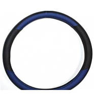 Чехол на руль КОЖА XL (42-43см) черно-синий KSW-2959-2