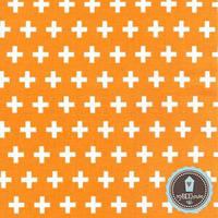 Robert Kaufman Remix Cross Krzyżyki Tangerine | 100% Хлопок США