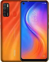 Смартфон c большим дисплеем и четырьмя камерами на 2 сим карты Tecno Spark 5 Pro (KD7) 4/64Gb DS Spark Orange