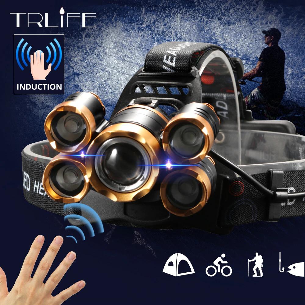 Налобный фонарь TRLIFE BL254 Мощный+ИК Датчик движения+Зум