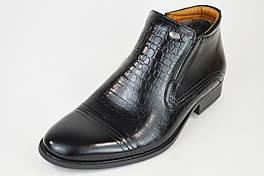 Ботинки на цигейке Tapi 2148 черные кожа 40 размер