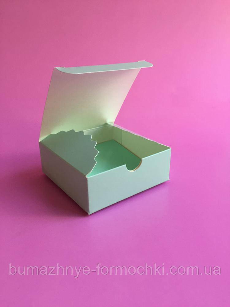 Коробочка для 4-х конфет ручной работы, тиффани, 83*83*30
