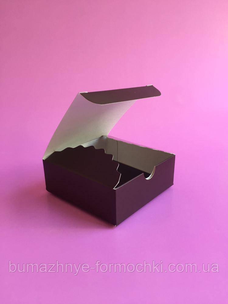 Коробочка для 4-х конфет ручной работы, цвет коричневый, 83*83*30