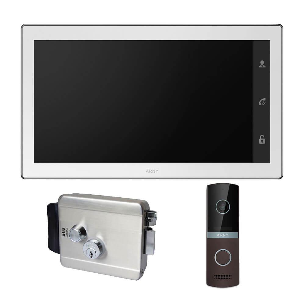 Комплект видеодомофона ARNY AVD-1040 2MPX + AVP-NG230 2MPX с электромеханическим замком ATIS Lock SS