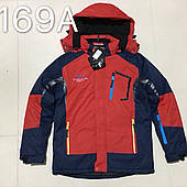 Зимняя детская спортивная куртка для мальчиков оптом