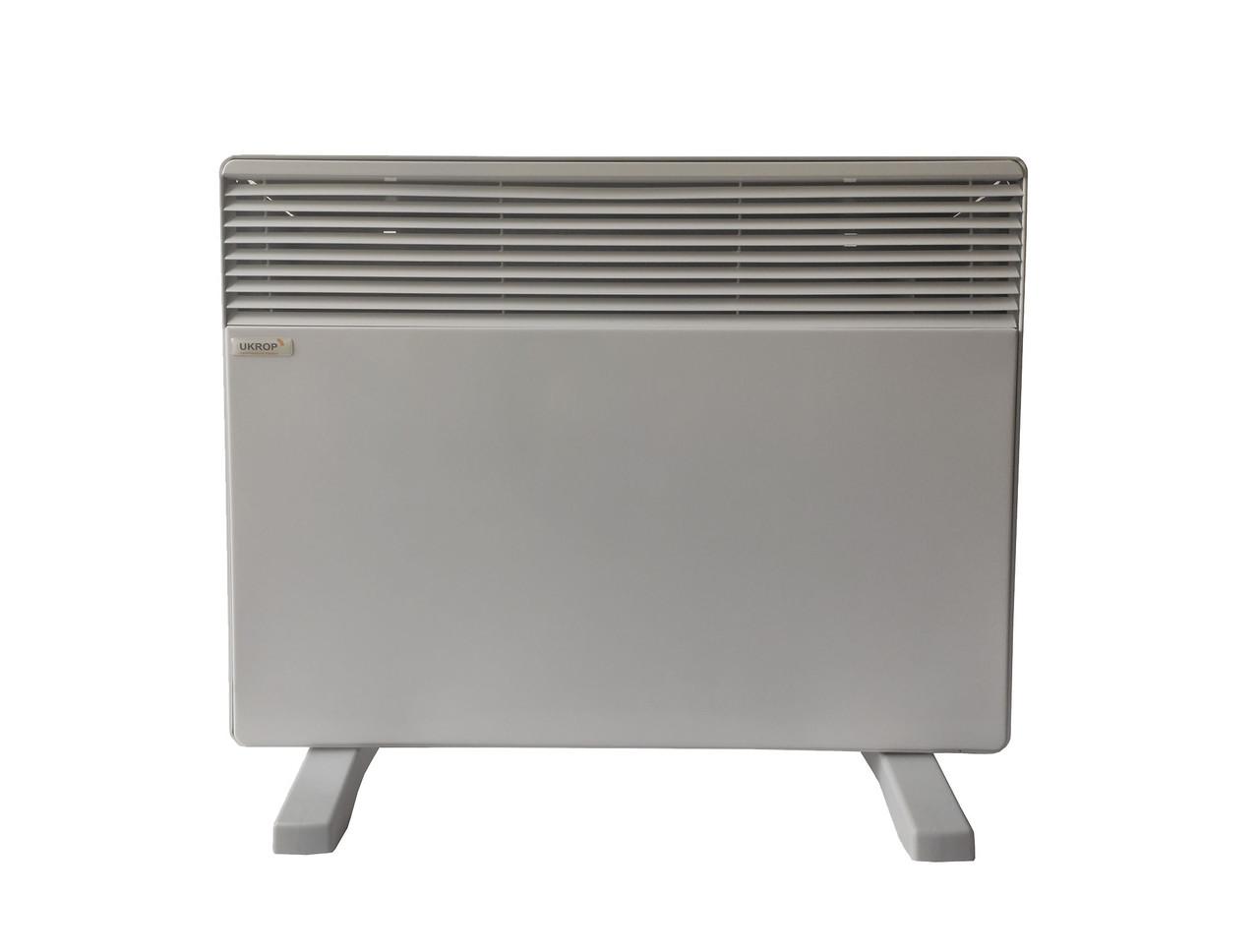 Умный эко конвектор электрический ЭКО-ОБОГРЕВ ЭК 1000П с терморегулятором и программатором, 2 датчика, эко-тен
