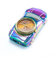 Спиральная подарочная электрозажигалка с часами Машина, 813 Коричневый циферблат, зажигалка от USB