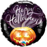 """Фольгований шар з малюнком Happy Halloween гарбуз світиться 45 см (18"""")"""