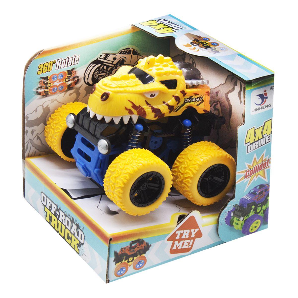 Машинка внедорожник  Динозавр,  желтый