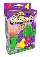 Кинетический песок  KidSand: Замок  с формочками, 200 г (рус)