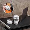 Термо-чашка силиконовая складная Collapsible 350 мл Серая, фото 4