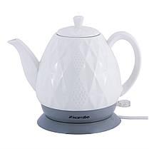Чайник белый электрический из керамики 1.5 л., фото 3