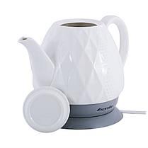 Чайник белый электрический из керамики 1.5 л., фото 2
