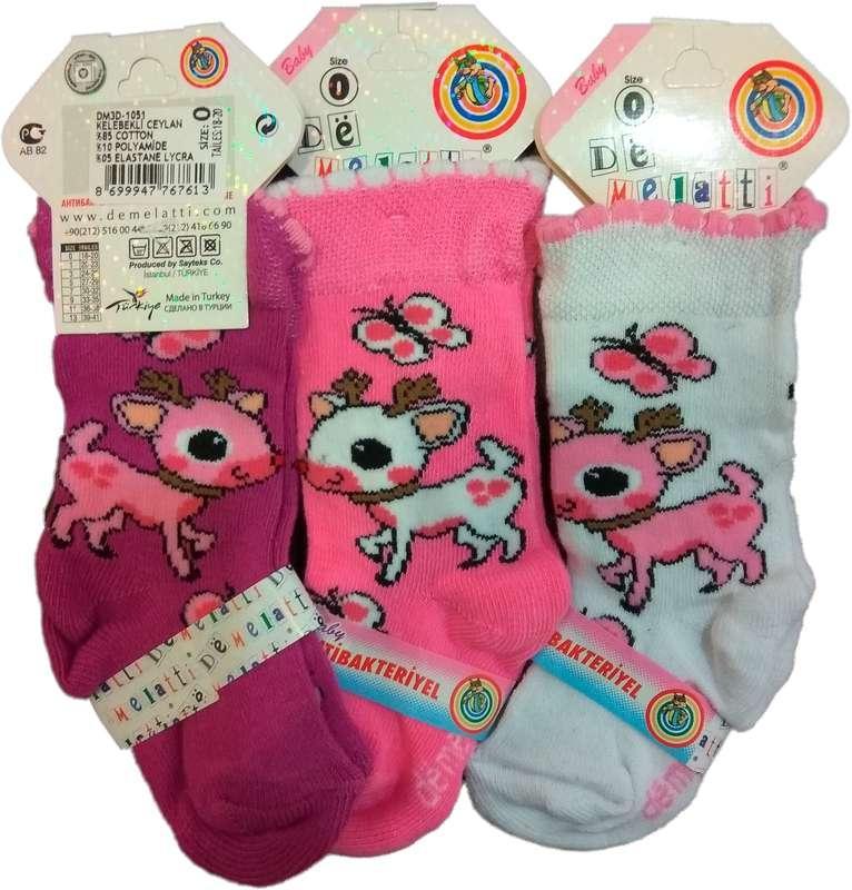 Носки детские демисезонные антибактериальные для девочки, De Melatti  (размер р.7 (30-32))