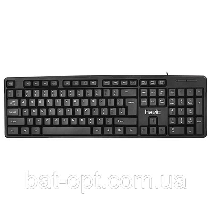 Клавиатура проводная Havit HV-KB430 USB черная