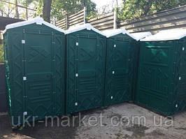 Биотуолет кабіна зелений від чотирьох одиниць