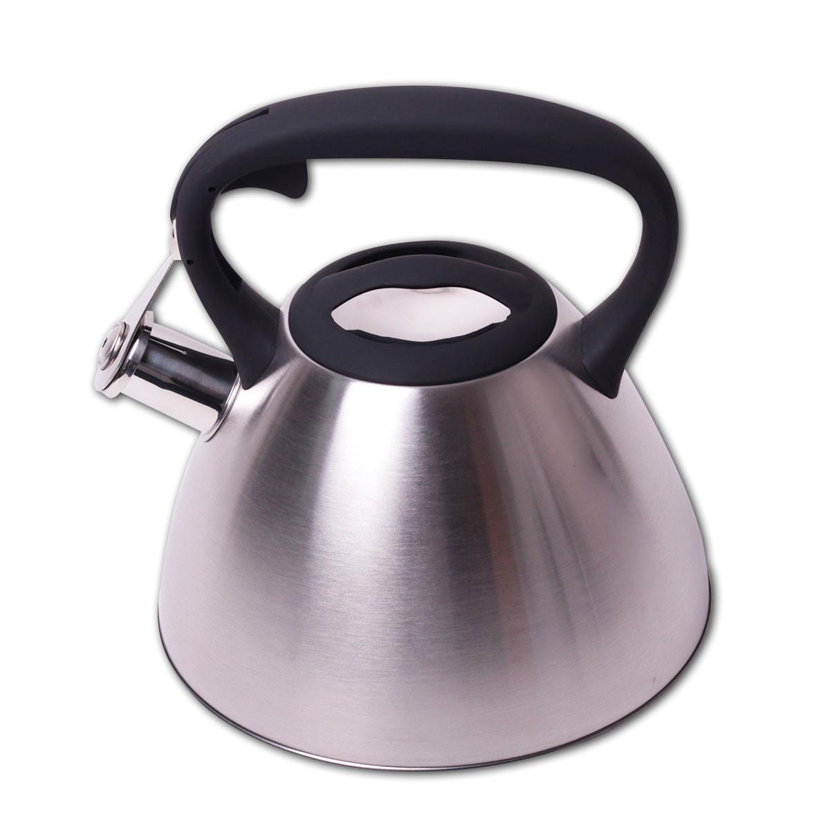 Чайник Kamille 3 л из нержавеющей стали со свистком для индукции