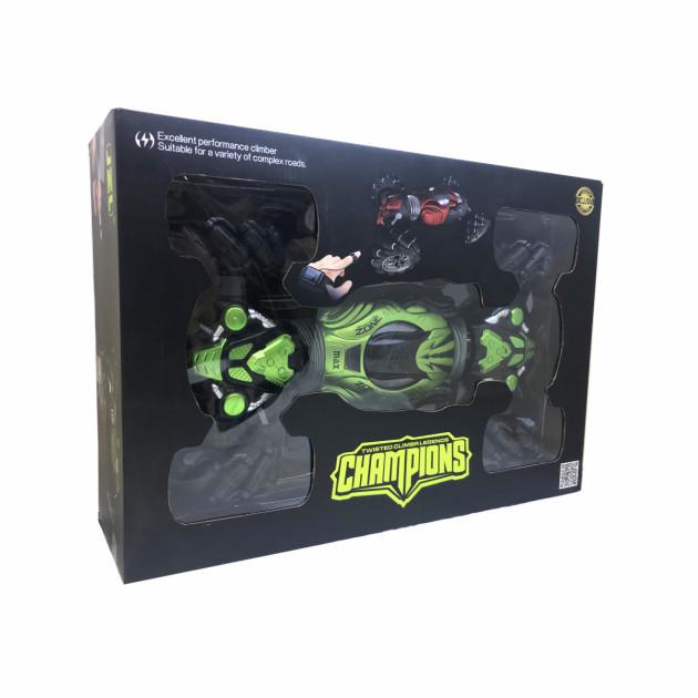 Машинка Champions с управлением жестом руки перевертыш 40 см зеленая