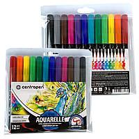 Фломастери акварельні Centropen Brush (12 кольорів)