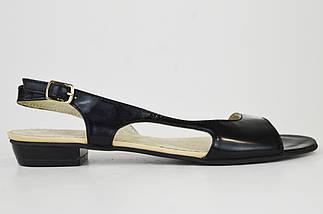 Босоножки на плоской подошве Roberto Netti 1368 черные лаковые 38 размер, фото 2