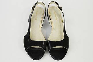 Босоножки на плоской подошве Roberto Netti 1368 черные лаковые 38 размер, фото 3