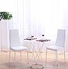 Стільці кухонні набір 4 шт Homart LCM-004W білий (9294), фото 5