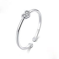 Кольцо серебряное женское Хрустальное сердце WOSTU Стерлинговое серебро 925