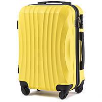 Чемодан Wings 159 малый 55х38х23 см Ручная кладь на 4 колесах Желтый