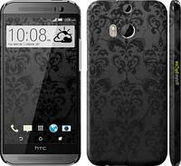 "Чехол на HTC One M8 узор черный ""1612c-30"""