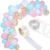 Комплект для создания арки из воздушных шаров (115 шт) 015