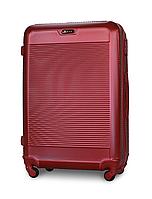 Чемодан Fly 1093 большой 74х51х30см 90 л пластиковый на 4 колесах Бордовый