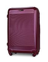 Чемодан Fly 1093 большой 74х51х30см 90л пластиковый на 4 колесах Темно-фиолетовый