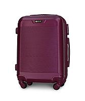 Чемодан Fly 1093 малый 55х40х24 см Ручная кладь на 4 колесах Темно-фиолетовый