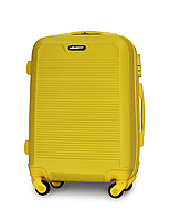 Чемодан Fly 1093 малый 55х40х24 см Ручная кладь на 4 колесах Желтый