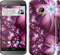 """Чехол на HTC One M8 Цветочная мозаика """"1961c-30"""""""