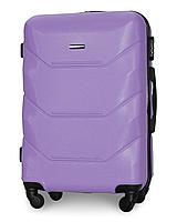 Чемодан Fly 147 большой 78х49х28 см 90л пластиковый на 4 колесах Светло-фиолетовый