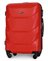 Чемодан Fly 147 большой 78х49х28 см 90л пластиковый на 4 колесах Красный