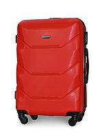 Чемодан Fly 147 средний 67х43х26 см 60 л пластиковый на 4 колесах Красный