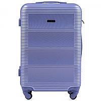 Чемодан Wings K203 большой 75х49х29 см 93 л пластиковый на 4 колесах Светло-фиолетовый