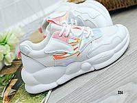 Женские удобные кроссовки белые, фото 1