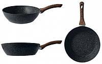 Сковорода глубокая GUSTO. покрытие GRANITE. 240*68мм