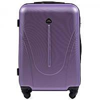 Чемодан Wings 888 средний 66х42х27 см 58 л пластиковый на 4 колесах Серебристо-фиолетовый
