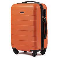 Чемодан Wings 401 малый 55х37х23 см Ручная кладь на 4 колесах Оранжевый