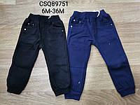 Котоновые брюки утепленные для мальчиков Seagull , 6-36 мес. Артикул: CSQ89751 , фото 1