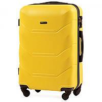 Чемодан Wings 147 средний 67х43х26 см 60 л пластиковый на 4 колесах Желтый