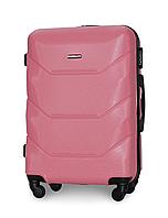 Чемодан Fly 147 средний 67х43х26 см 60л пластиковый на 4 колесах Розовый